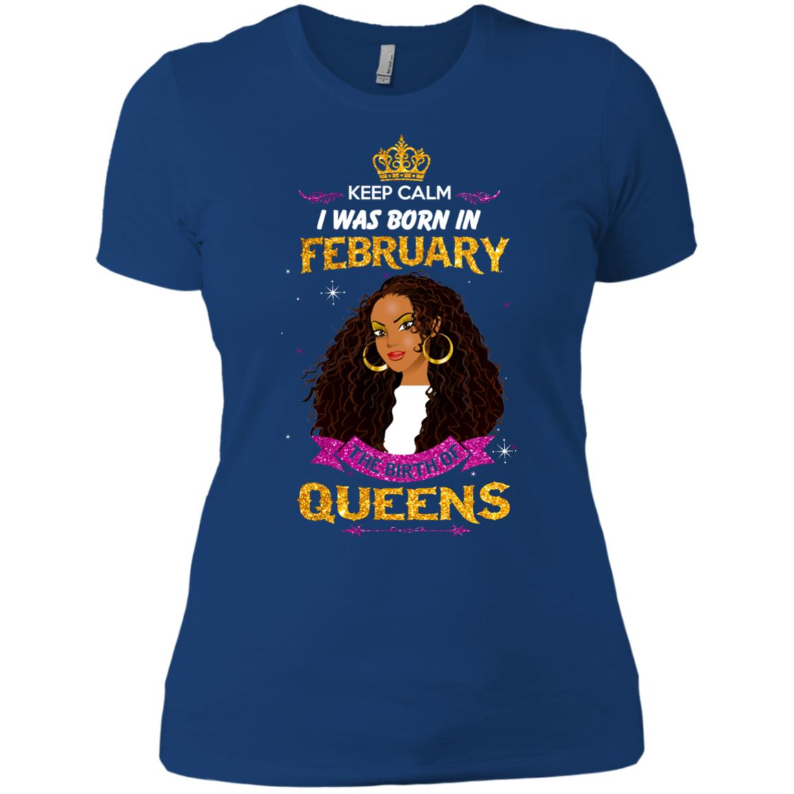 image 933px Keep Calm I Was Born In February The Birth Of Queens T Shirts, Tank Top