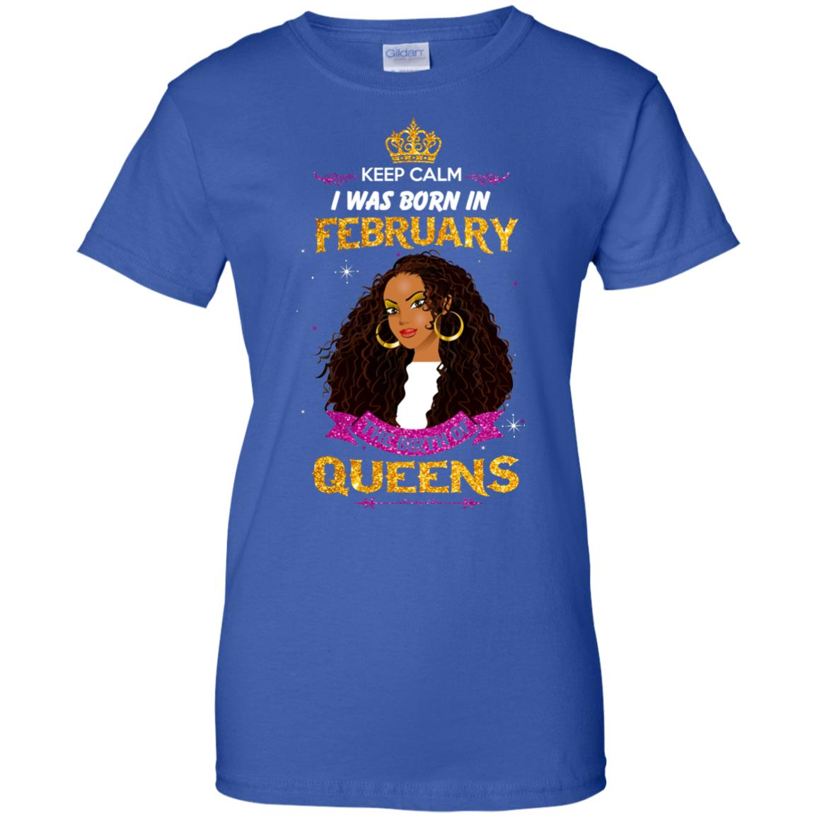 image 936px Keep Calm I Was Born In February The Birth Of Queens T Shirts, Tank Top