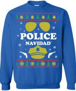 image 100 247x296px Police Navidad Christmas Sweater, Long Sleeve