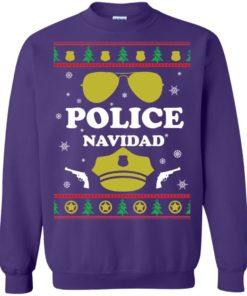 image 101 247x296px Police Navidad Christmas Sweater, Long Sleeve