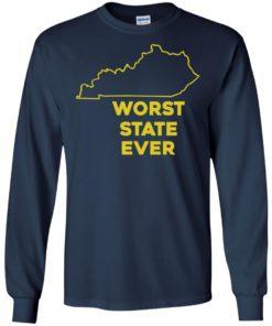 image 1014 247x296px Kentucky Worst State Ever Shirt, Hoodies, Tank