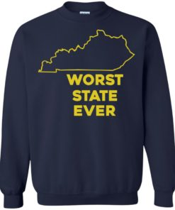 image 1018 247x296px Kentucky Worst State Ever Shirt, Hoodies, Tank