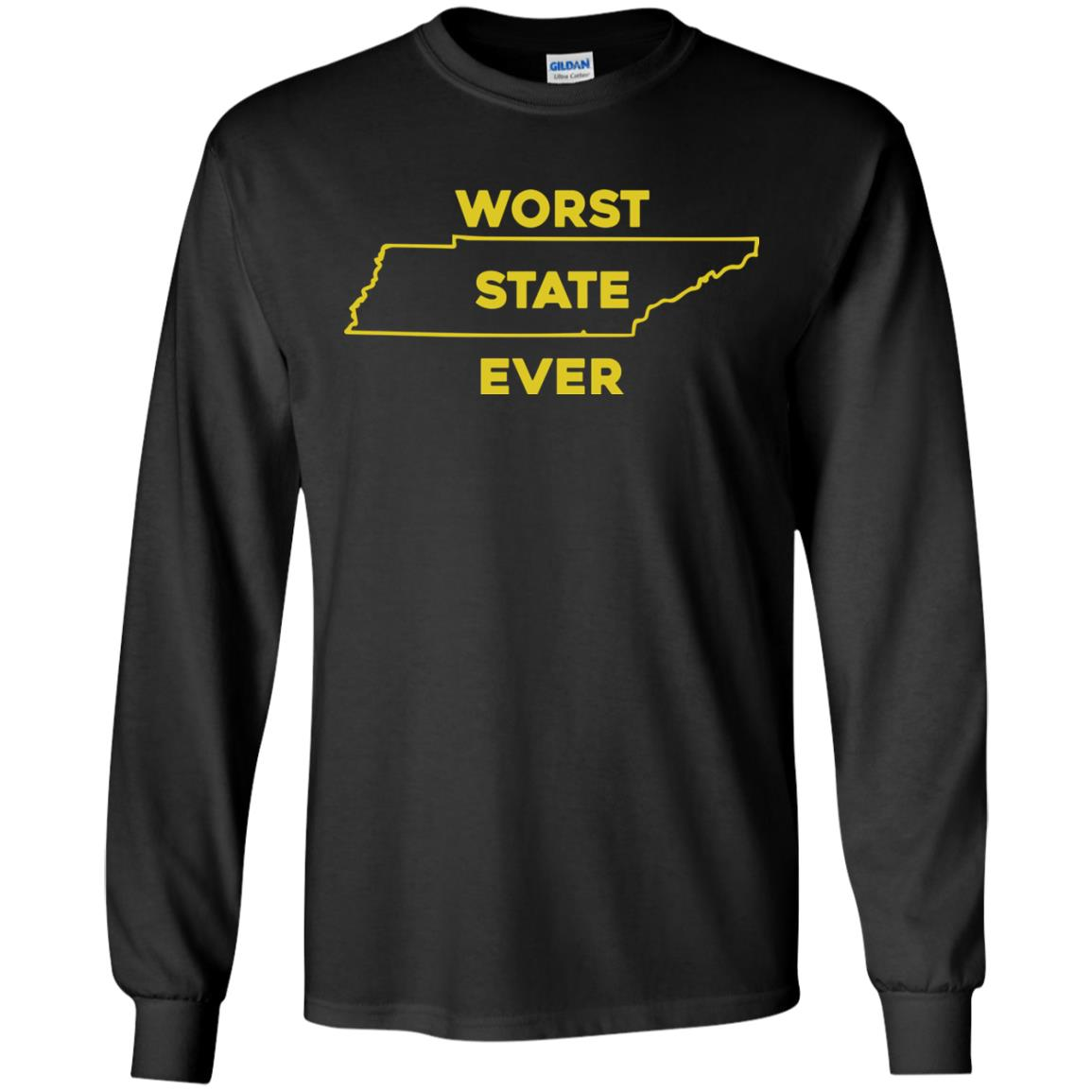 image 1025px Tennessee Worst State Ever T Shirts, Tank Top, Hoodies
