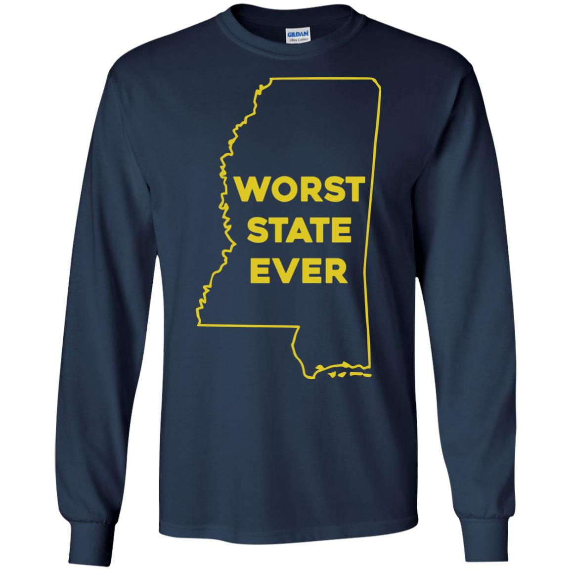 image 1038px Mississippi Worst State Ever T Shirts, Hoodies, Tank Top