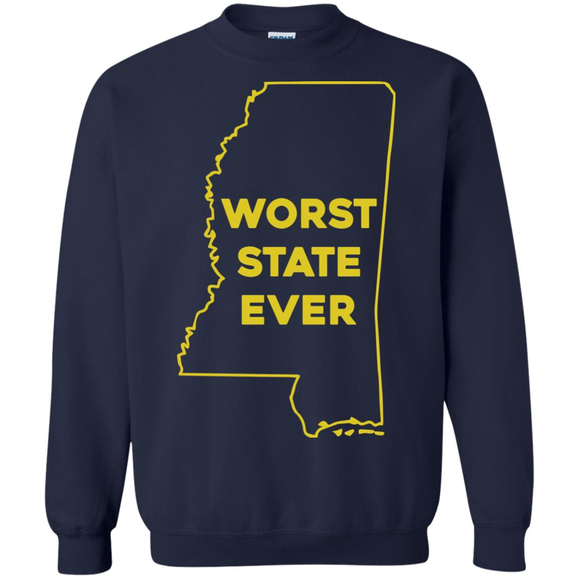 image 1042px Mississippi Worst State Ever T Shirts, Hoodies, Tank Top