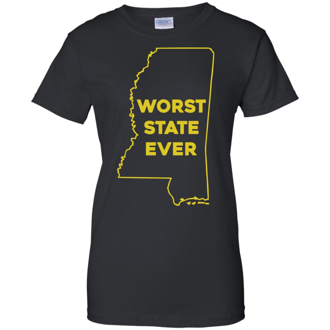 image 1043px Mississippi Worst State Ever T Shirts, Hoodies, Tank Top