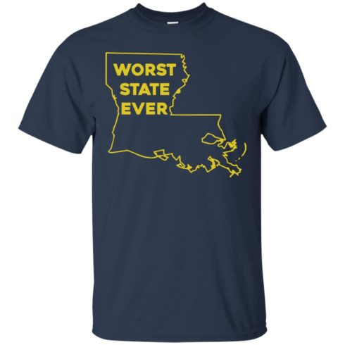 image 1058 490x490px Louisiana Worst State Ever T Shirts, Hoodies, Sweater