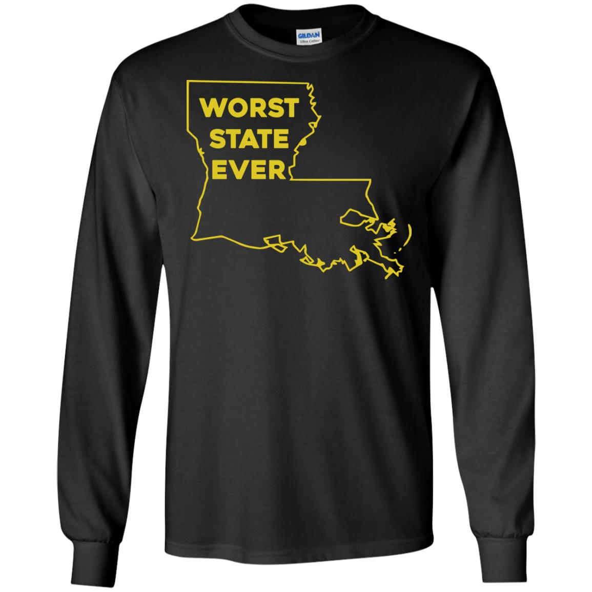image 1061px Louisiana Worst State Ever T Shirts, Hoodies, Sweater