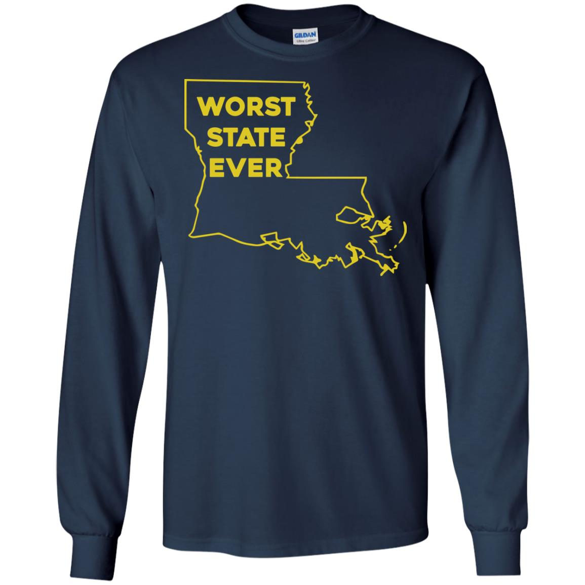 image 1062px Louisiana Worst State Ever T Shirts, Hoodies, Sweater