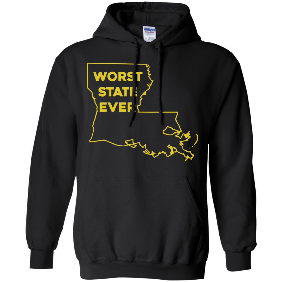 image 1063px Louisiana Worst State Ever T Shirts, Hoodies, Sweater