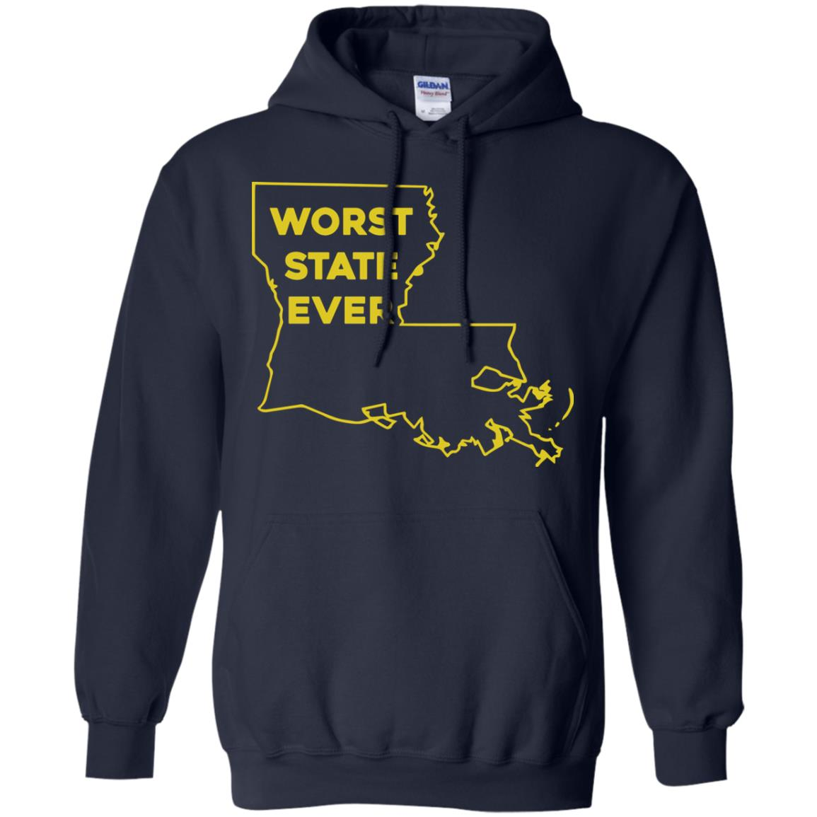 image 1064px Louisiana Worst State Ever T Shirts, Hoodies, Sweater