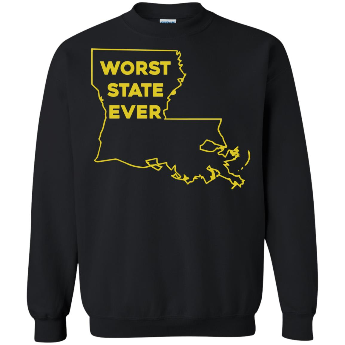 image 1065px Louisiana Worst State Ever T Shirts, Hoodies, Sweater