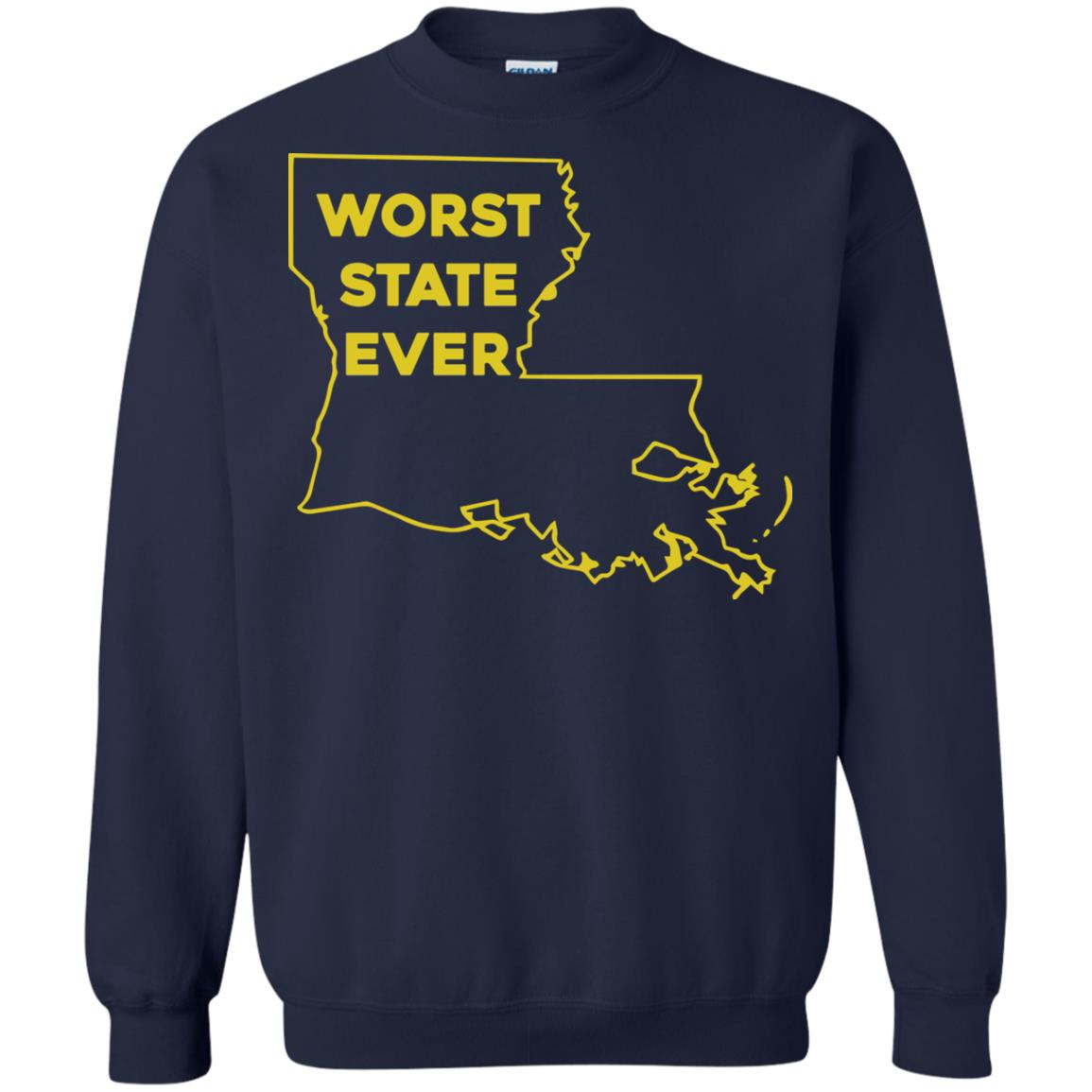 image 1066px Louisiana Worst State Ever T Shirts, Hoodies, Sweater