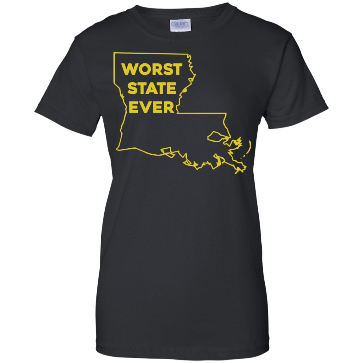 image 1067px Louisiana Worst State Ever T Shirts, Hoodies, Sweater