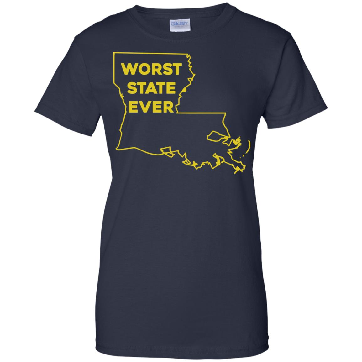 image 1068px Louisiana Worst State Ever T Shirts, Hoodies, Sweater
