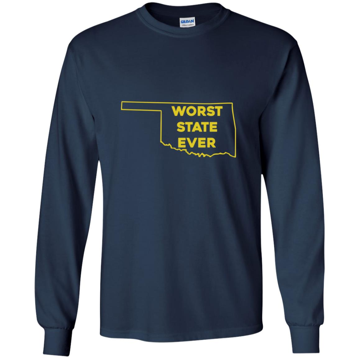 image 1074px Oklahoma Worst State Ever T Shirts, Hoodies, Tank Top