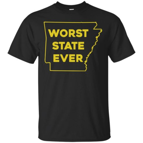 image 1081 490x490px Arkansas Worst State Ever T Shirts, Hoodies, Tank Top Available