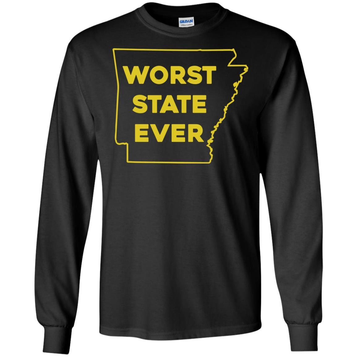 image 1085px Arkansas Worst State Ever T Shirts, Hoodies, Tank Top Available