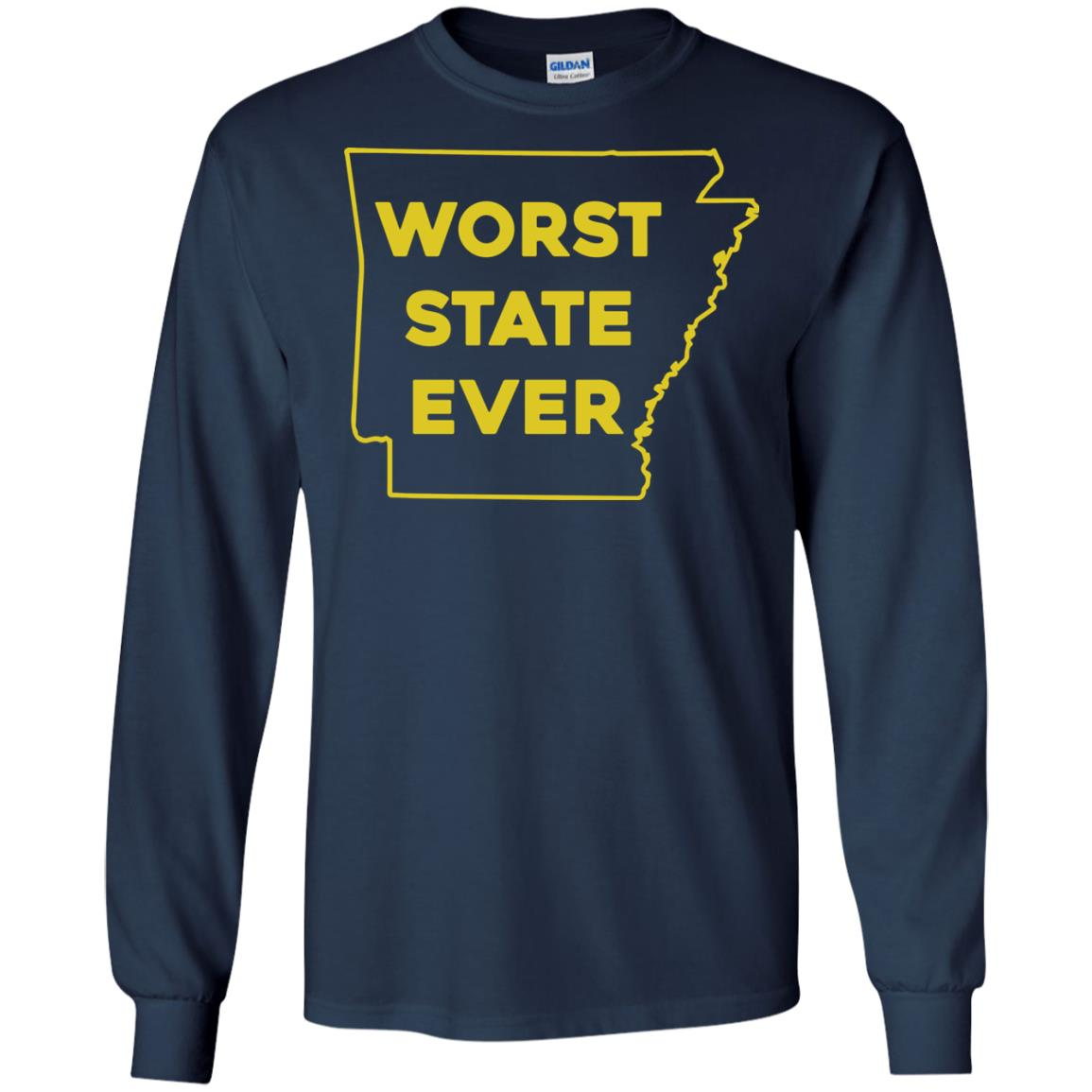 image 1086px Arkansas Worst State Ever T Shirts, Hoodies, Tank Top Available