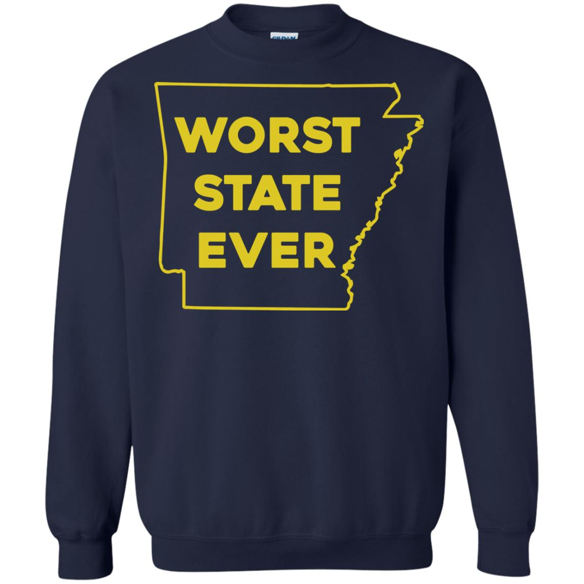 image 1090px Arkansas Worst State Ever T Shirts, Hoodies, Tank Top Available