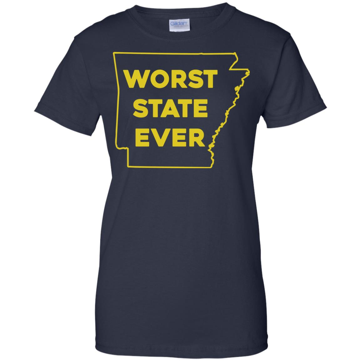 image 1092px Arkansas Worst State Ever T Shirts, Hoodies, Tank Top Available