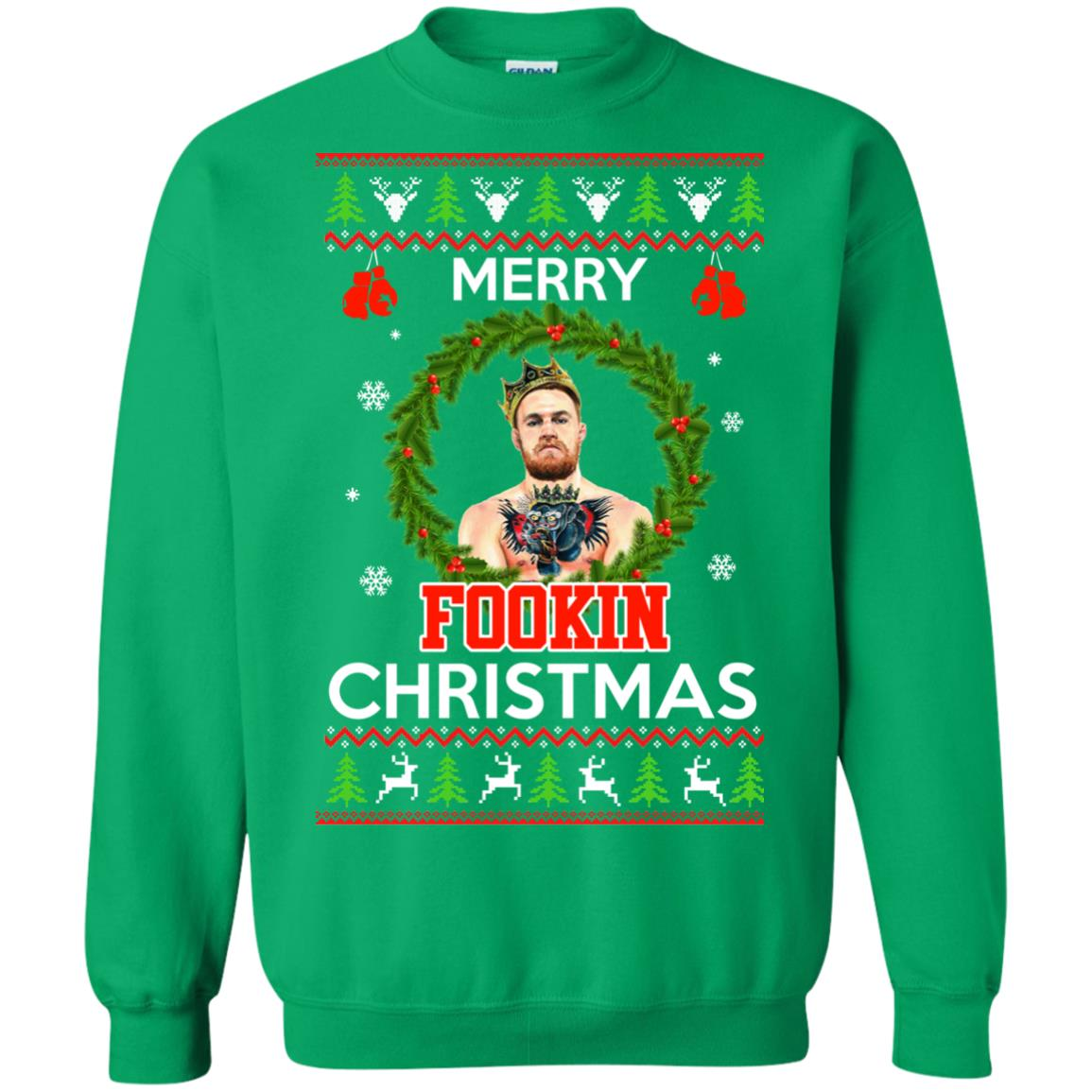 image 1124px McGregor Merry Fookin Christmas Sweater, McGregor Sweatshirt
