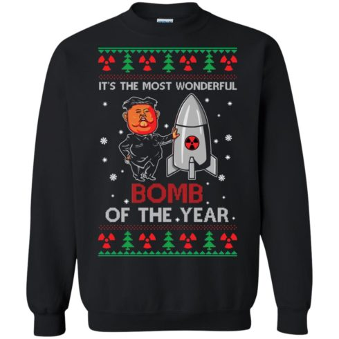 image 1133 490x490px Kim Jong Un: It's The Most Wonderful Bomb Of The Year Christmas Sweater