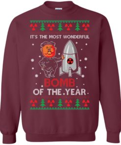image 1134 247x296px Kim Jong Un: It's The Most Wonderful Bomb Of The Year Christmas Sweater