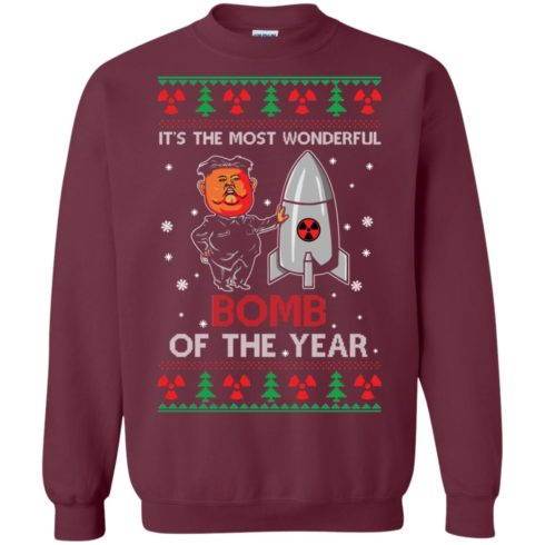 image 1134 490x490px Kim Jong Un: It's The Most Wonderful Bomb Of The Year Christmas Sweater