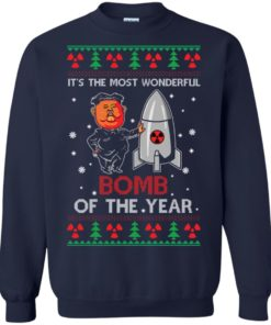 image 1135 247x296px Kim Jong Un: It's The Most Wonderful Bomb Of The Year Christmas Sweater