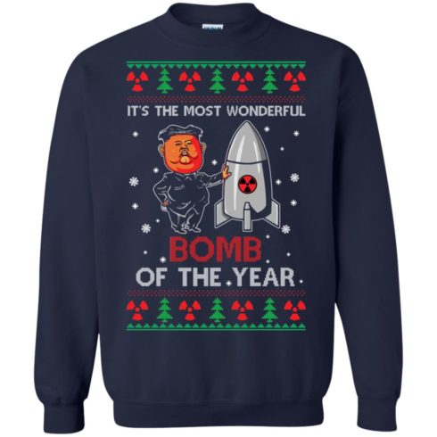 image 1135 490x490px Kim Jong Un: It's The Most Wonderful Bomb Of The Year Christmas Sweater
