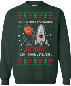 image 1136 247x296px Kim Jong Un: It's The Most Wonderful Bomb Of The Year Christmas Sweater