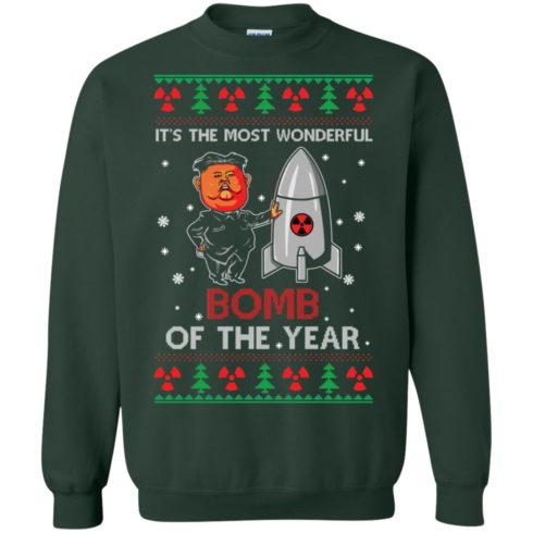 image 1136 490x490px Kim Jong Un: It's The Most Wonderful Bomb Of The Year Christmas Sweater