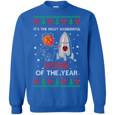 image 1137 490x490px Kim Jong Un: It's The Most Wonderful Bomb Of The Year Christmas Sweater