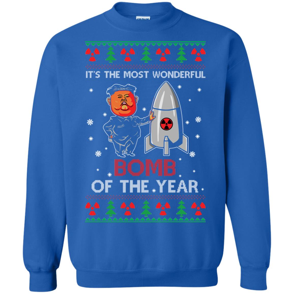 image 1137px Kim Jong Un: It's The Most Wonderful Bomb Of The Year Christmas Sweater