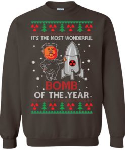 image 1138 247x296px Kim Jong Un: It's The Most Wonderful Bomb Of The Year Christmas Sweater