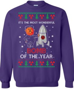 image 1139 247x296px Kim Jong Un: It's The Most Wonderful Bomb Of The Year Christmas Sweater