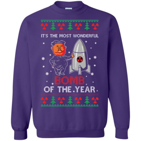 image 1139 490x490px Kim Jong Un: It's The Most Wonderful Bomb Of The Year Christmas Sweater