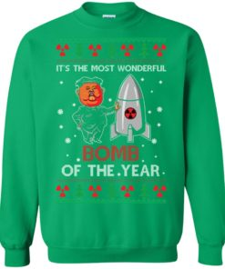 image 1140 247x296px Kim Jong Un: It's The Most Wonderful Bomb Of The Year Christmas Sweater