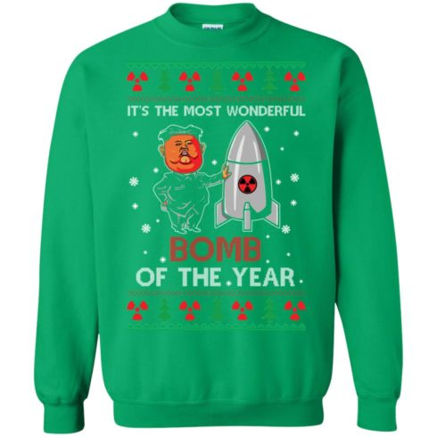 image 1140 490x490px Kim Jong Un: It's The Most Wonderful Bomb Of The Year Christmas Sweater