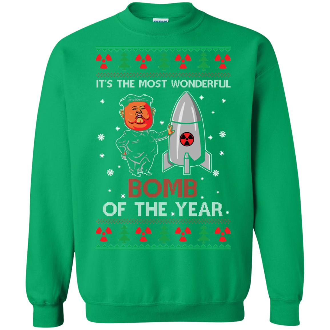 image 1140px Kim Jong Un: It's The Most Wonderful Bomb Of The Year Christmas Sweater