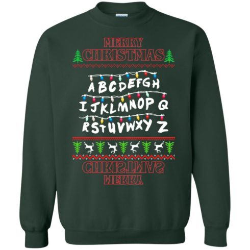 image 1152 490x490px Merry Christmas Stranger Things Alphabet Christmas Sweater