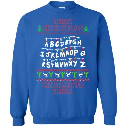 image 1153 490x490px Merry Christmas Stranger Things Alphabet Christmas Sweater