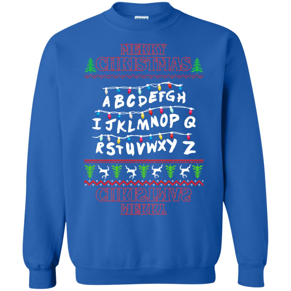 image 1153px Merry Christmas Stranger Things Alphabet Christmas Sweater