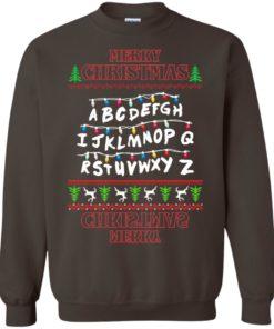 image 1154 247x296px Merry Christmas Stranger Things Alphabet Christmas Sweater