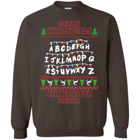 image 1154 490x490px Merry Christmas Stranger Things Alphabet Christmas Sweater