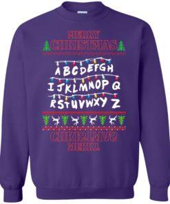 image 1155 247x296px Merry Christmas Stranger Things Alphabet Christmas Sweater