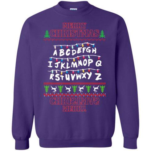 image 1155 490x490px Merry Christmas Stranger Things Alphabet Christmas Sweater