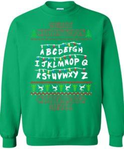 image 1156 247x296px Merry Christmas Stranger Things Alphabet Christmas Sweater