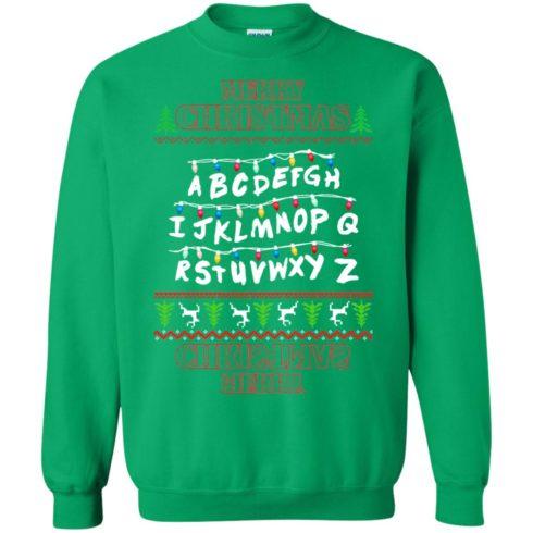 image 1156 490x490px Merry Christmas Stranger Things Alphabet Christmas Sweater